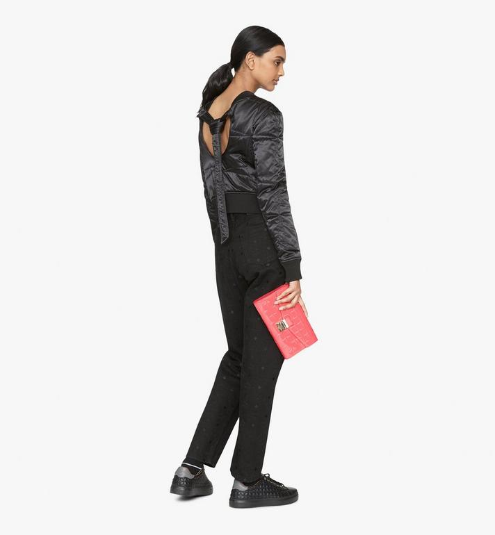 MCM Millie Crossbody-Tasche aus Lackleder mit Rautenmuster Pink MWRASME01QE001 Alternate View 4