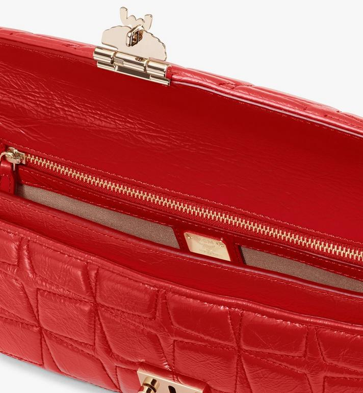 MCM Millie Crossbody in Quilted Leather Red MWRASME02R4001 Alternate View 3