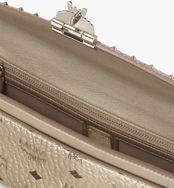 MCM 밀리 스터디드 아웃라인 비세토스 크로스바디 Gold MWRASME05T1001 Alternate View 3