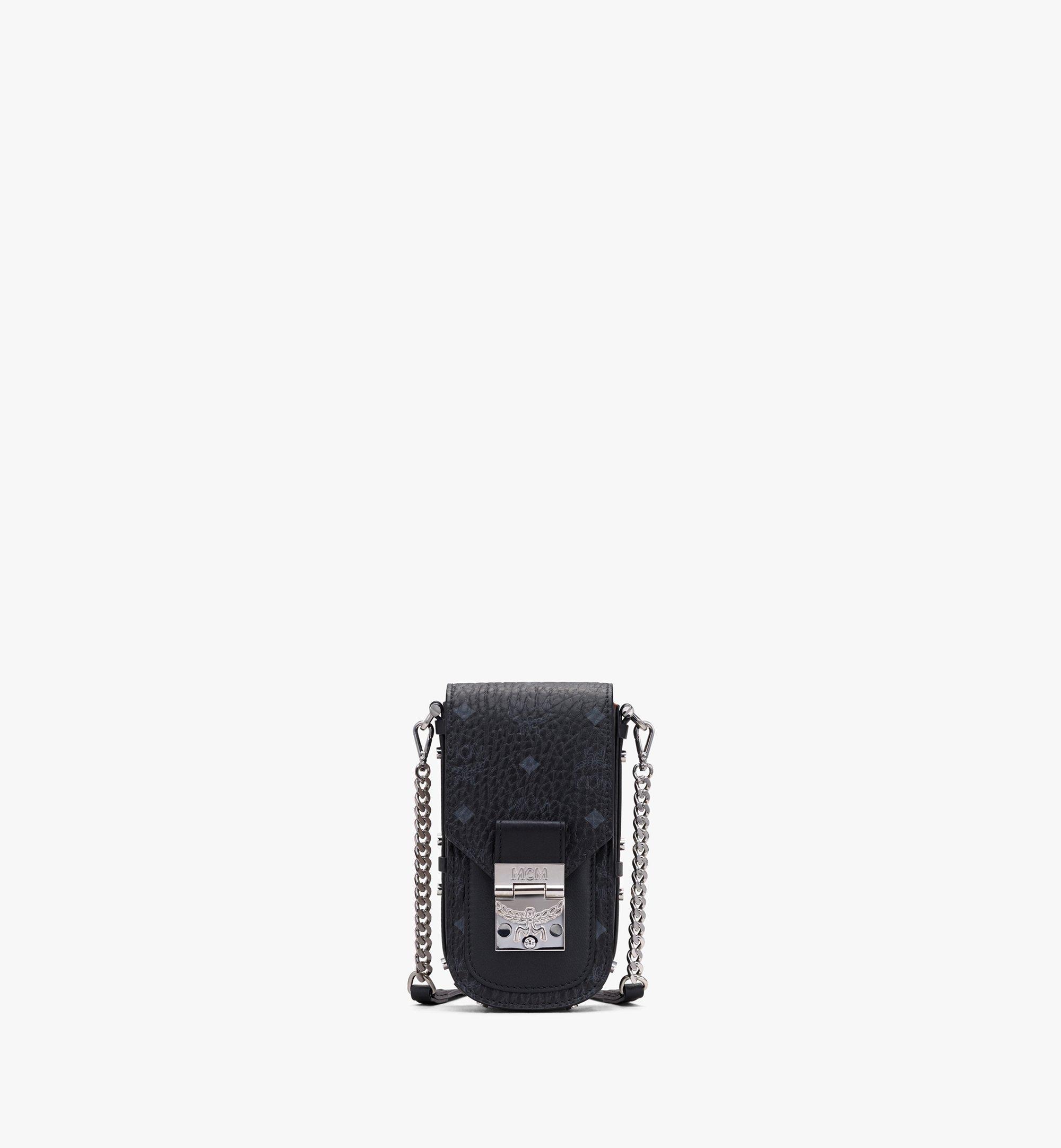 MCM Patricia Mini-Crossbody-Tasche in Visetos Black MWRASPA04BK001 Alternate View 1