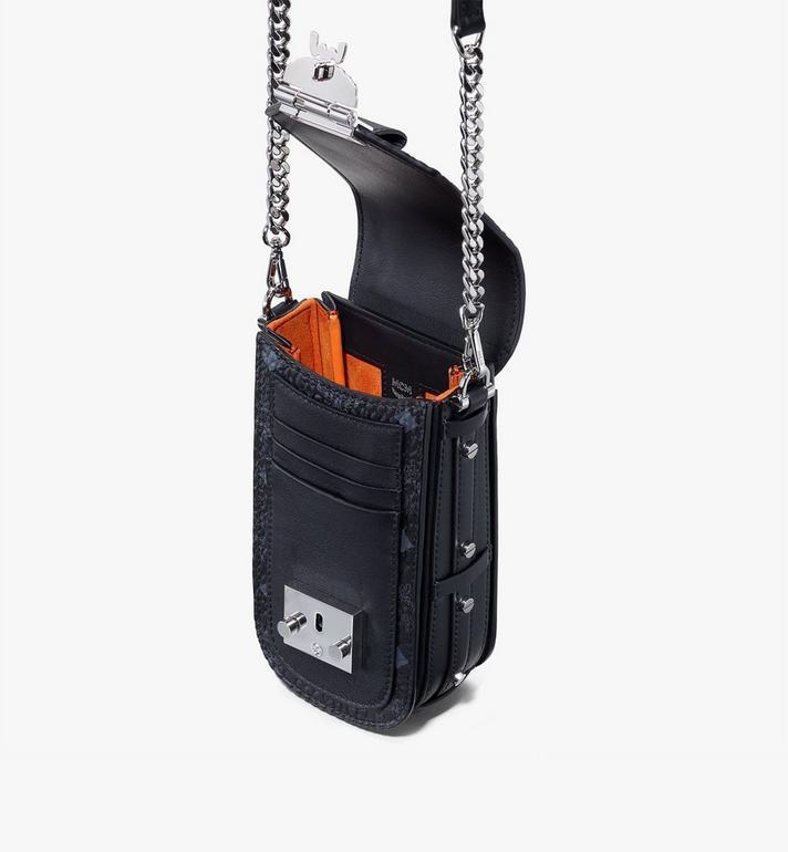 MCM Mini sac à bandoulière Patricia en Visetos Black MWRASPA04BK001 Alternate View 4