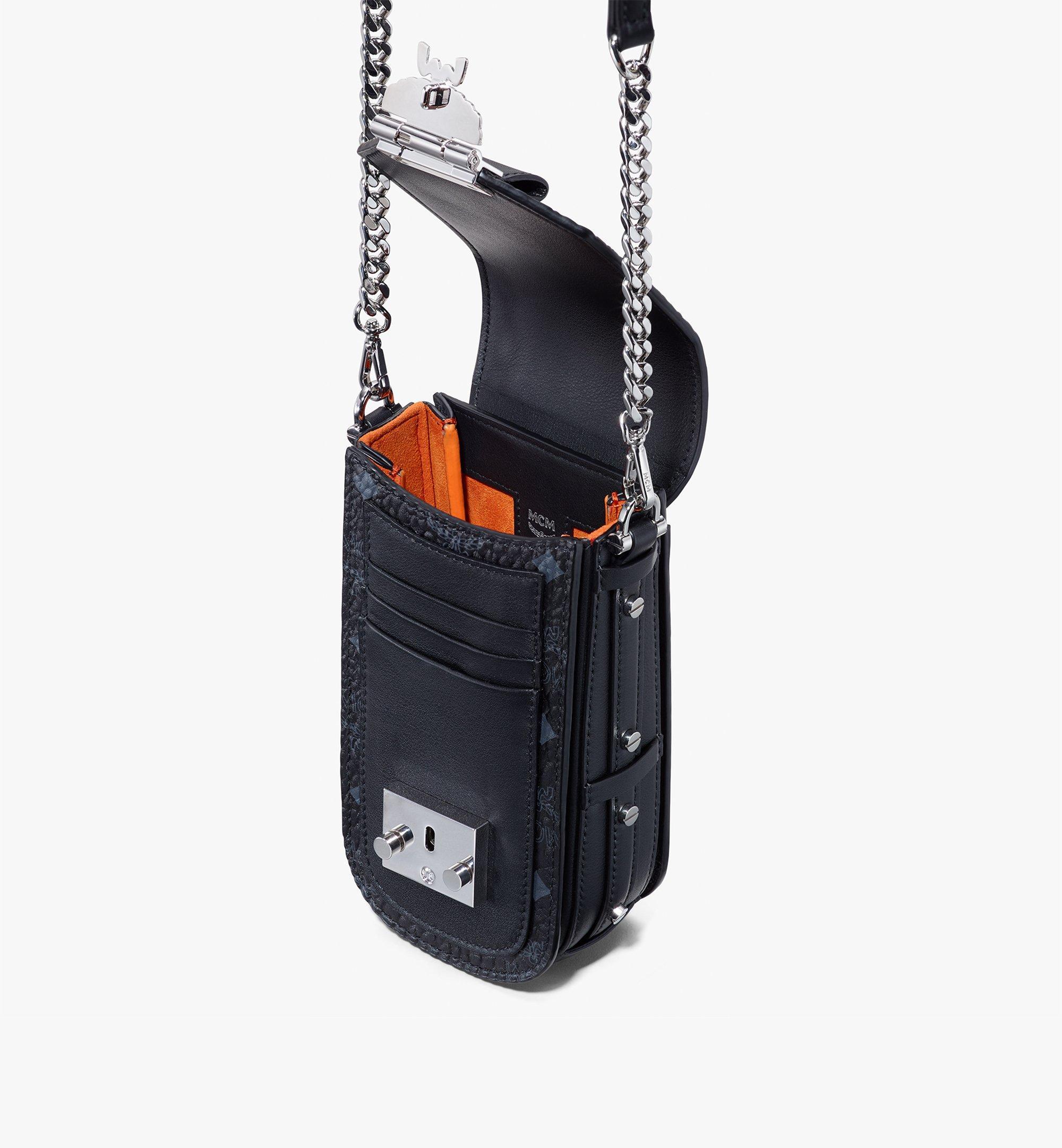 MCM Patricia Mini-Crossbody-Tasche in Visetos Black MWRASPA04BK001 Alternate View 4