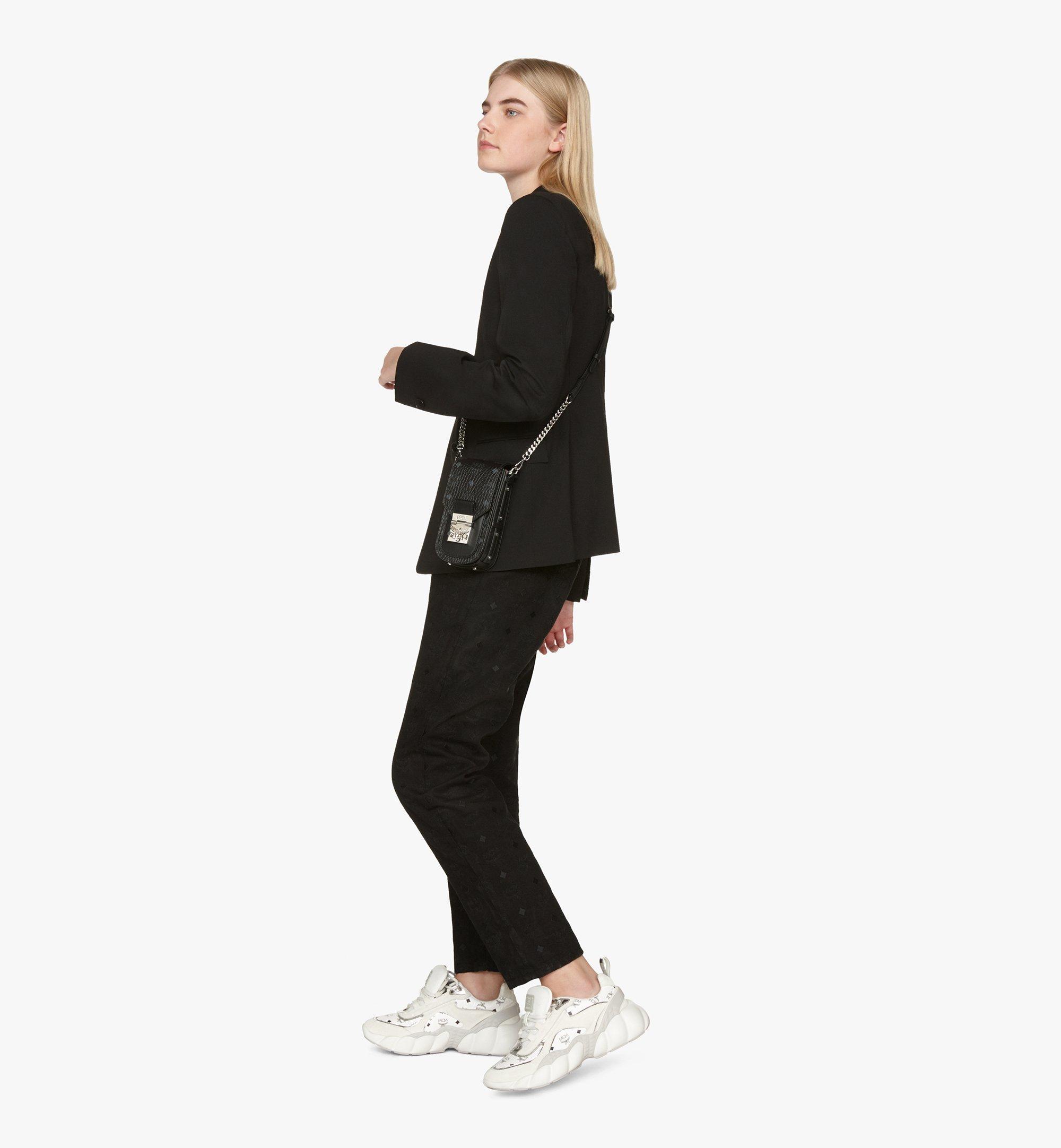 MCM Patricia Mini-Crossbody-Tasche in Visetos Black MWRASPA04BK001 Alternate View 5