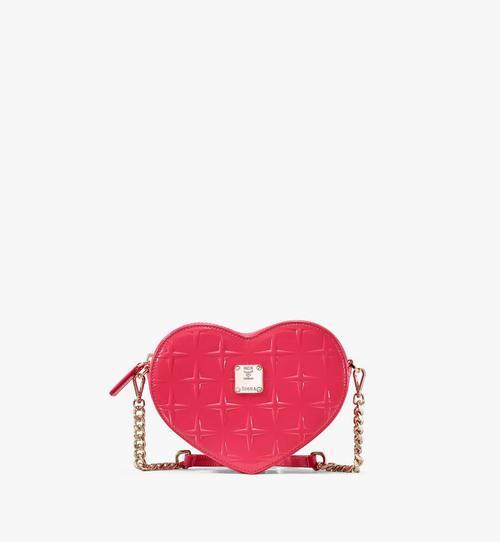 Patricia Heart Crossbody in Diamond Patent Leather