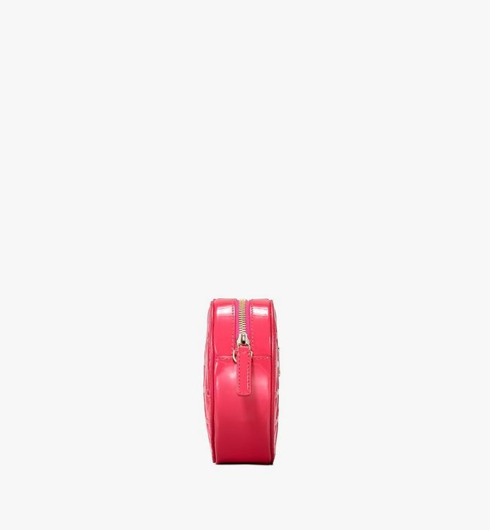 MCM Patricia Heart Crossbody in Diamond Patent Leather Pink MWRASPA10QE001 Alternate View 2