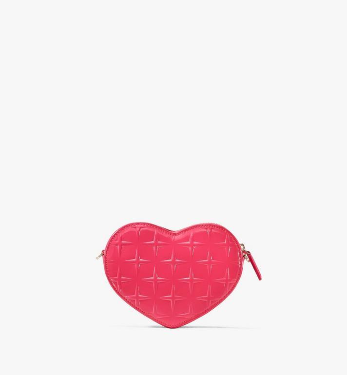 MCM Patricia Heart Crossbody in Diamond Patent Leather Pink MWRASPA10QE001 Alternate View 3
