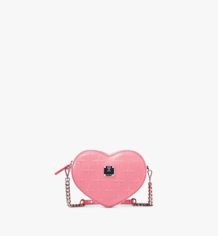 MCM Patricia Heart Crossbody in Diamond Patent Leather Alternate View
