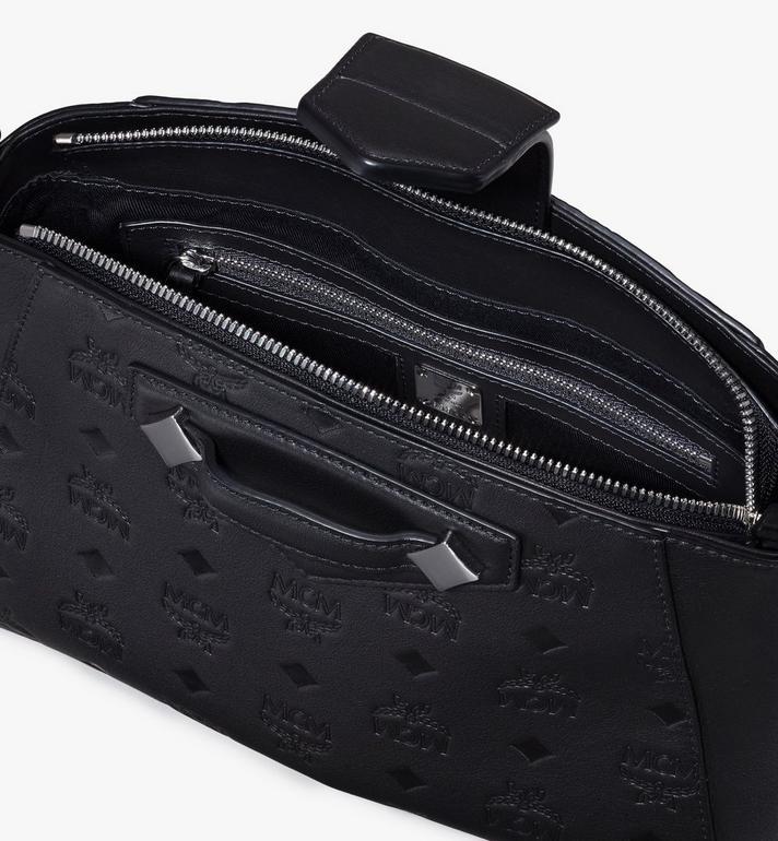 MCM Essential Crossbody Bag in Monogram Leather Black MWRASSE06BK001 Alternate View 4