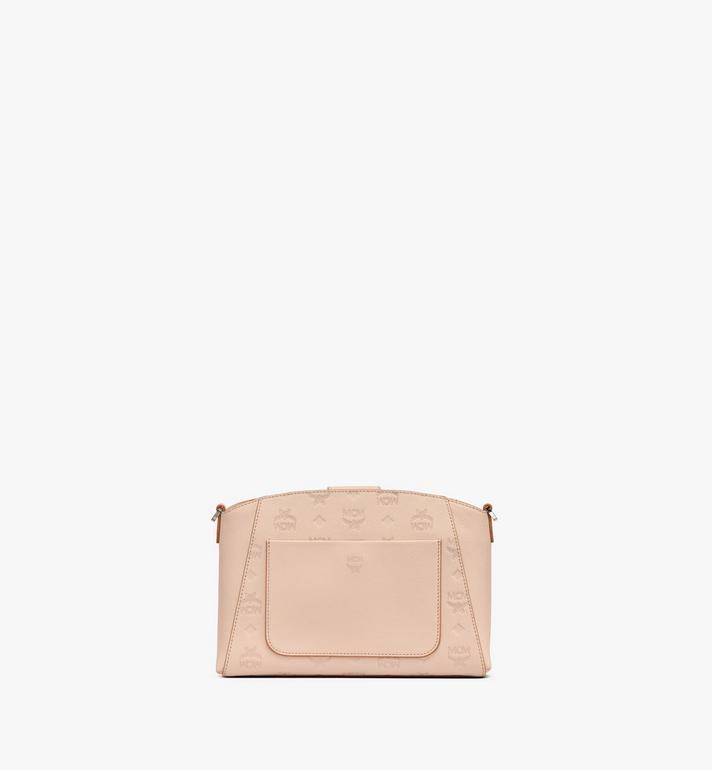 MCM Essential Crossbody Bag in Monogram Leather Beige MWRASSE06II001 Alternate View 3