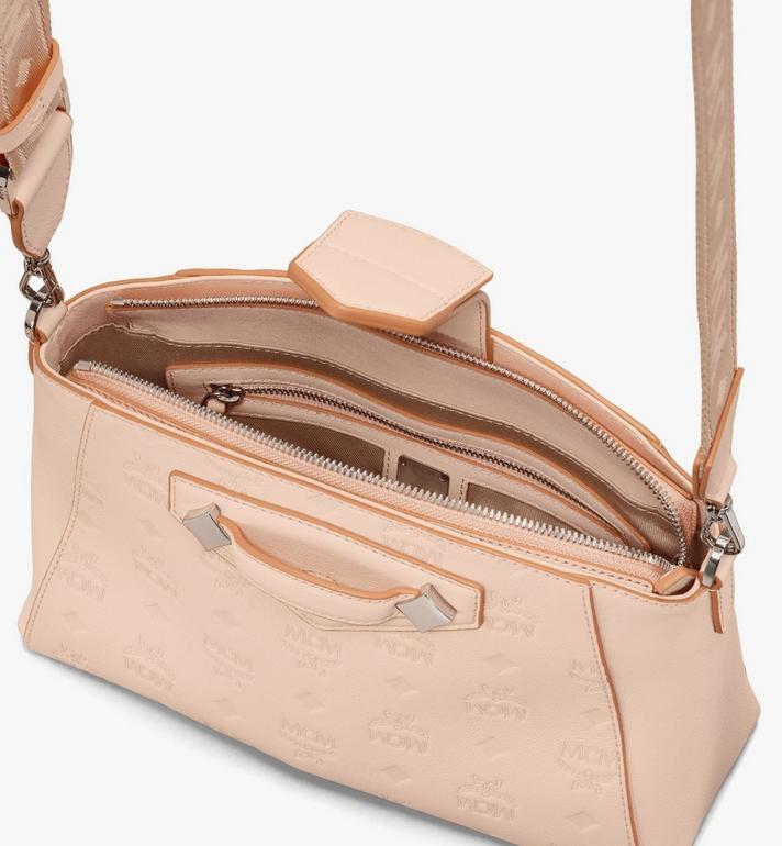 MCM Essential Crossbody Bag in Monogram Leather Beige MWRASSE06II001 Alternate View 4