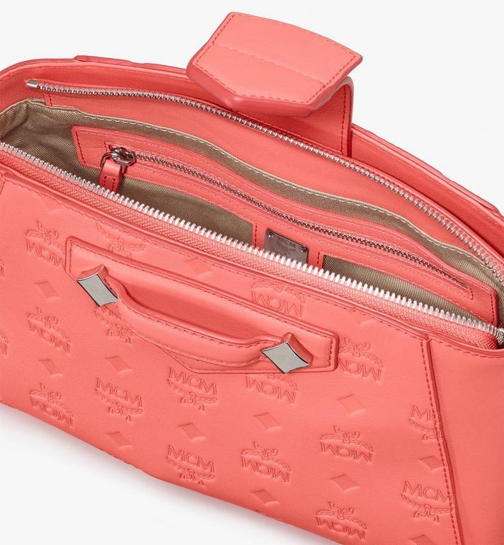 MCM Essential Crossbody Bag in Monogram Leather Pink MWRASSE06O3001 Alternate View 4