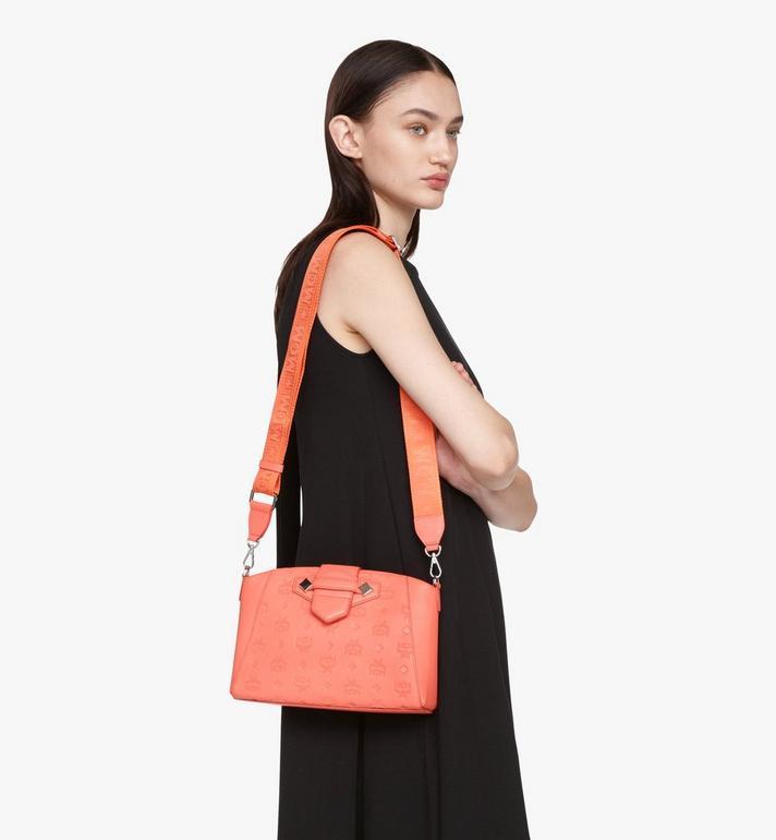 MCM Essential Crossbody Bag in Monogram Leather Pink MWRASSE06O3001 Alternate View 5