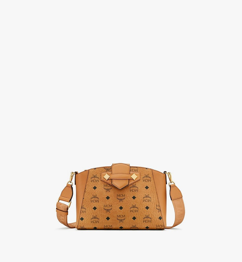 MCM Essential Crossbody Bag in Visetos Original Cognac MWRASSE07CO001 Alternate View 1