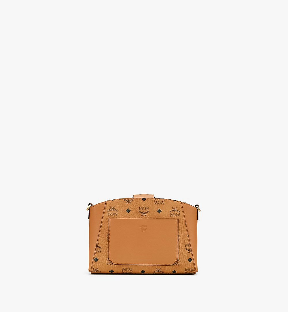 MCM Essential Crossbody Bag in Visetos Original Cognac MWRASSE07CO001 Alternate View 2