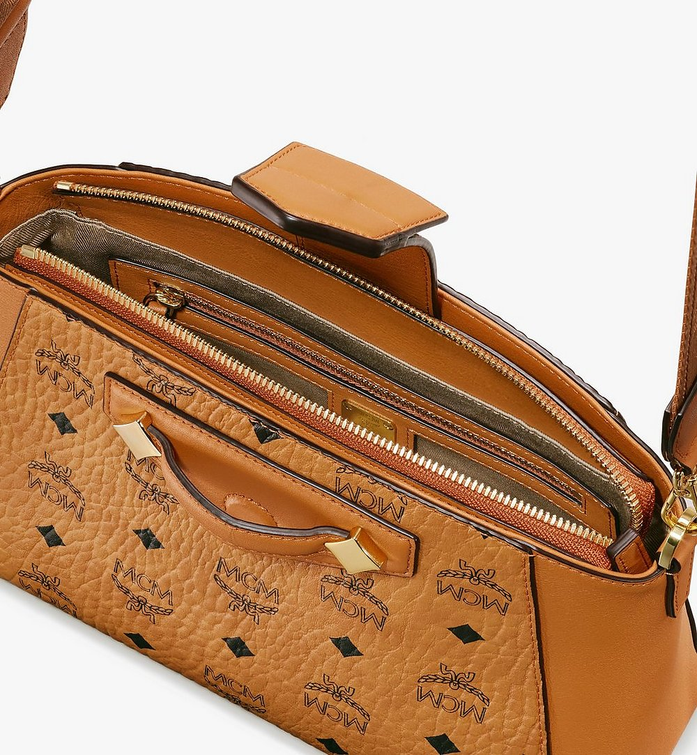 MCM Essential Crossbody Bag in Visetos Original Cognac MWRASSE07CO001 Alternate View 3
