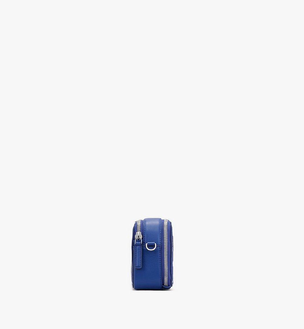 MCM E/W Camera Bag in Visetos Original Blue MWRASVI01H1001 Alternate View 1