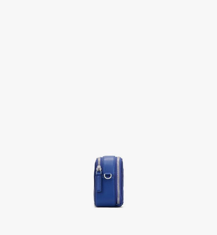 MCM Sac à bandoulière pour appareil photo E/W en Visetos Original Blue MWRASVI01H1001 Alternate View 2