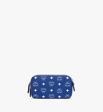 MCM Crossbody-Tasche in Visetos im Querformat Blue MWRASVI01H1001 Alternate View 3