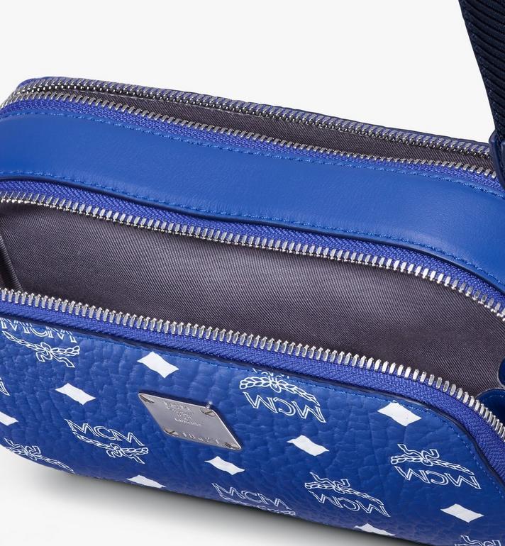 MCM Sac à bandoulière pour appareil photo E/W en Visetos Original Blue MWRASVI01H1001 Alternate View 4