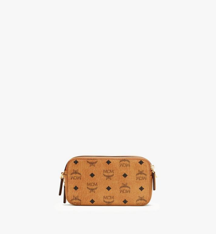 MCM E/W Camera Bag in Visetos Cognac MWRASVI03CO001 Alternate View 3