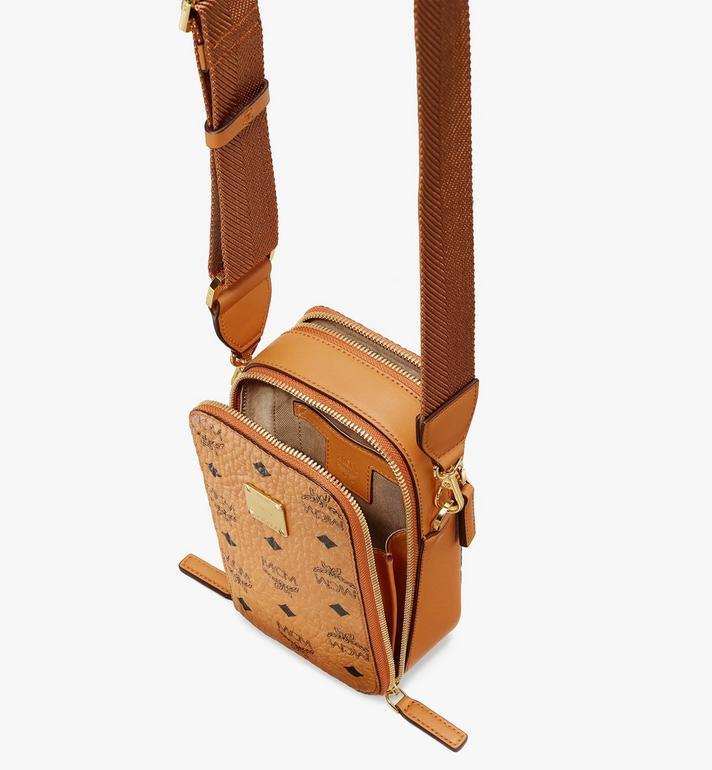 MCM N/S Camera Bag in Visetos Cognac MWRASVI04CO001 Alternate View 4