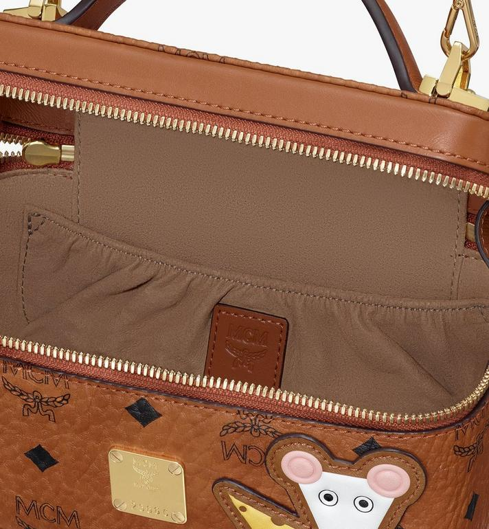 MCM Year Of The Mouse 락스타 배니티 케이스 Cognac MWRASXL02CO001 Alternate View 4