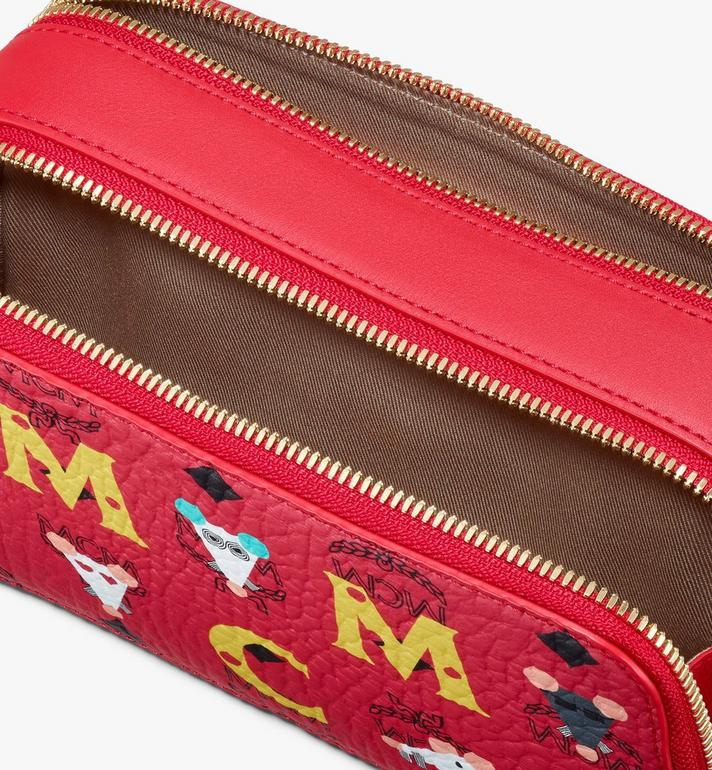 MCM Chiese New Year Camera Bag Red MWRASXL06RJ001 Alternate View 4