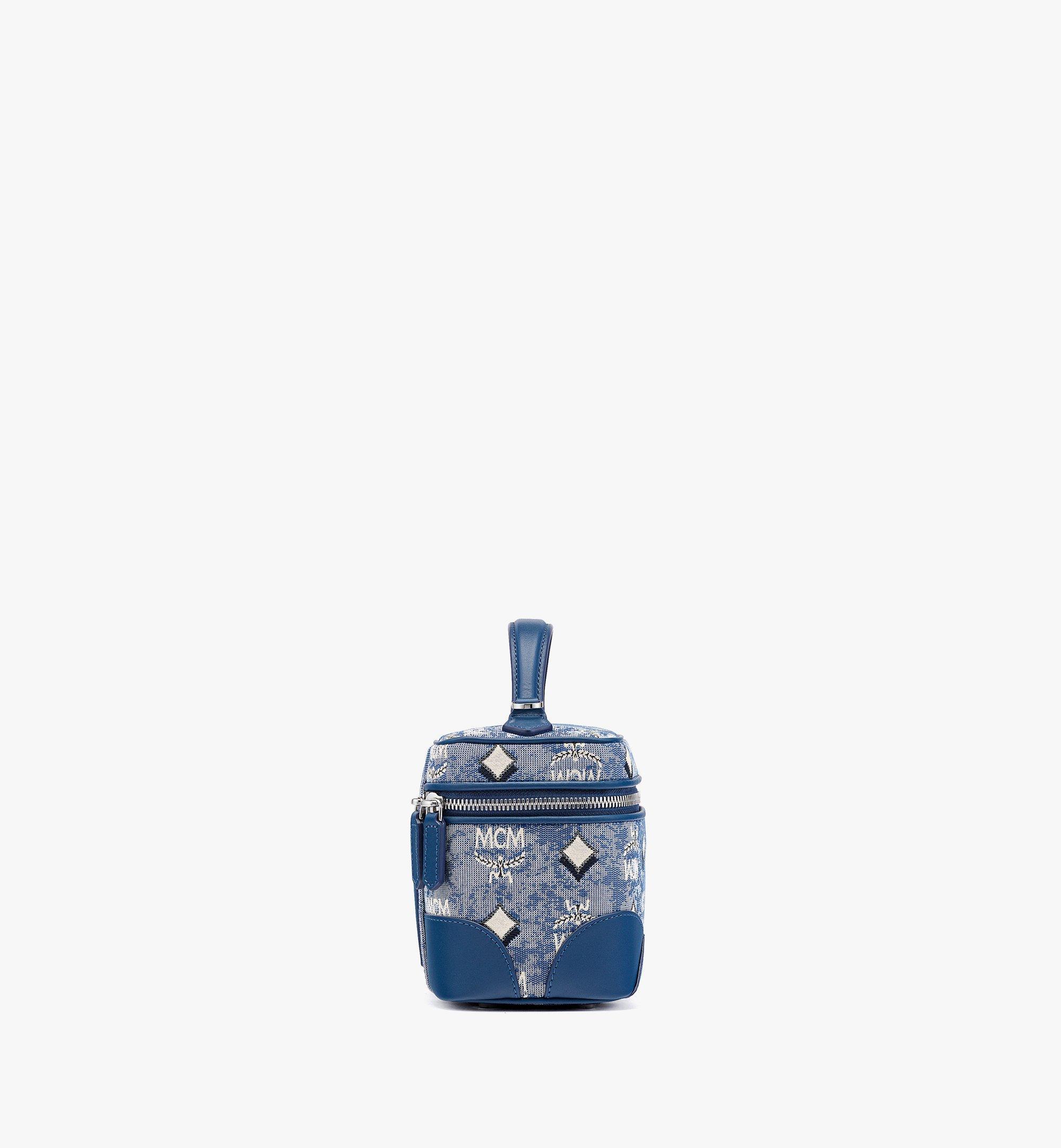 MCM Vanity-case Rockstar en jacquard monogrammé vintage Blue MWRBATQ01LU001 Plus de photos 1