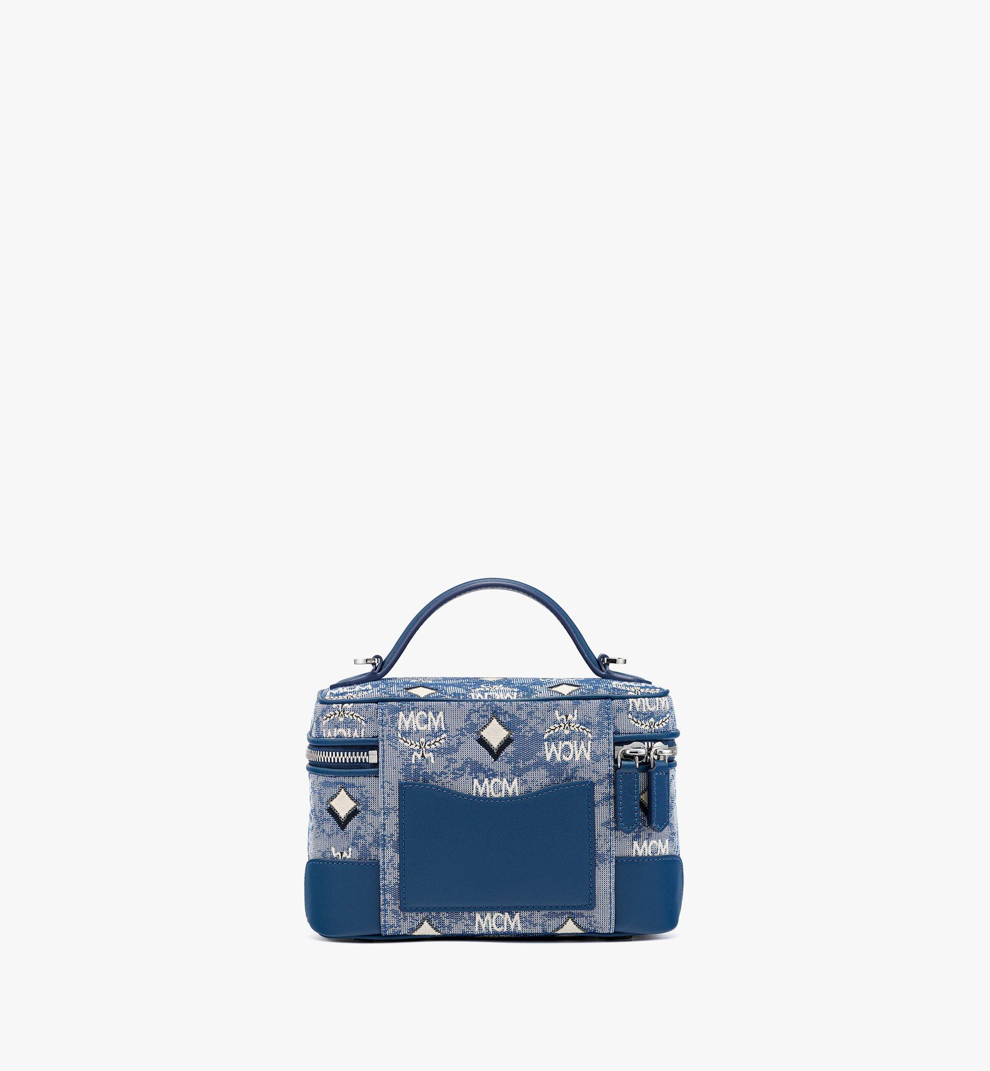 MCM Vanity-case Rockstar en jacquard monogrammé vintage Blue MWRBATQ01LU001 Plus de photos 3