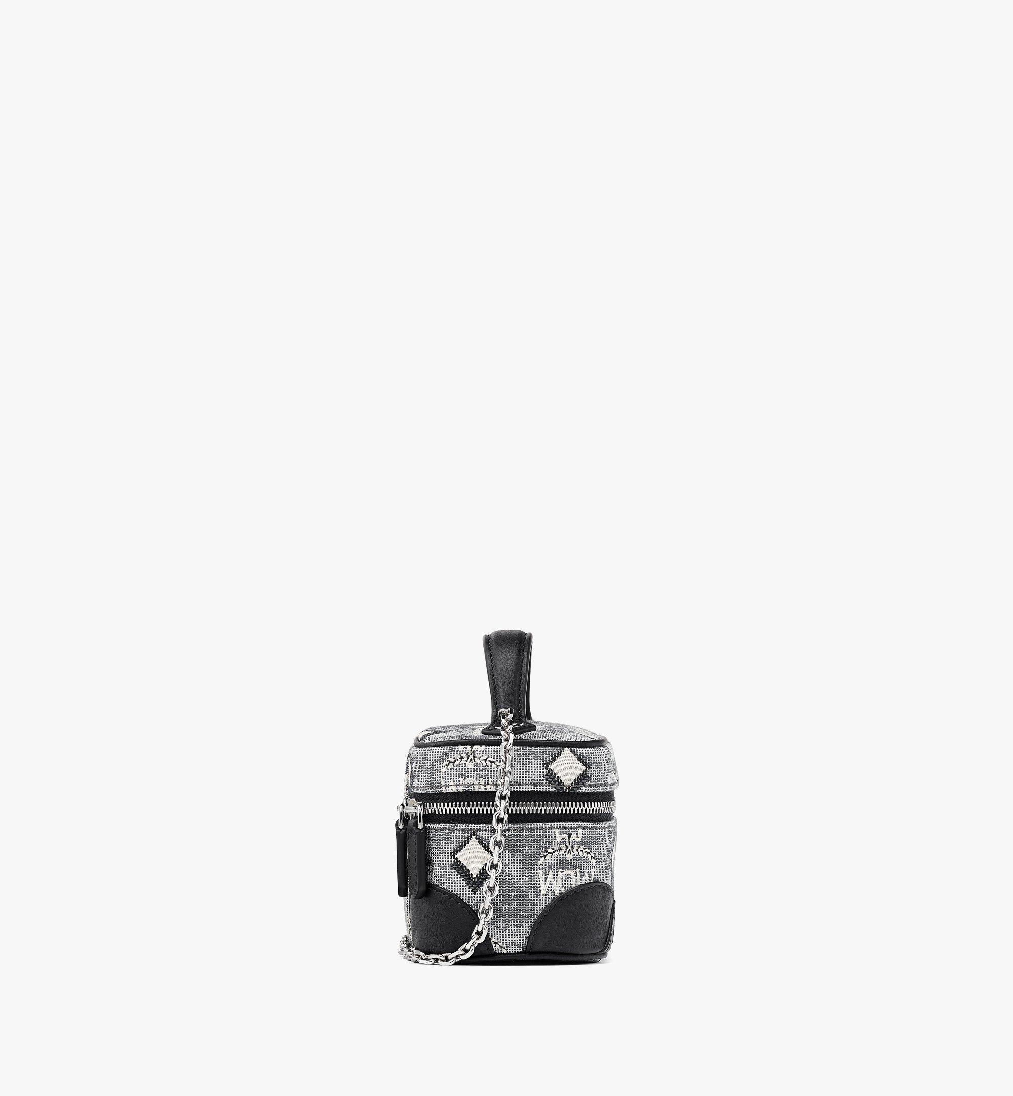 MCM Rockstar Vanity Case in Vintage Jacquard Monogram Grey MWRBATQ02EG001 Alternate View 1