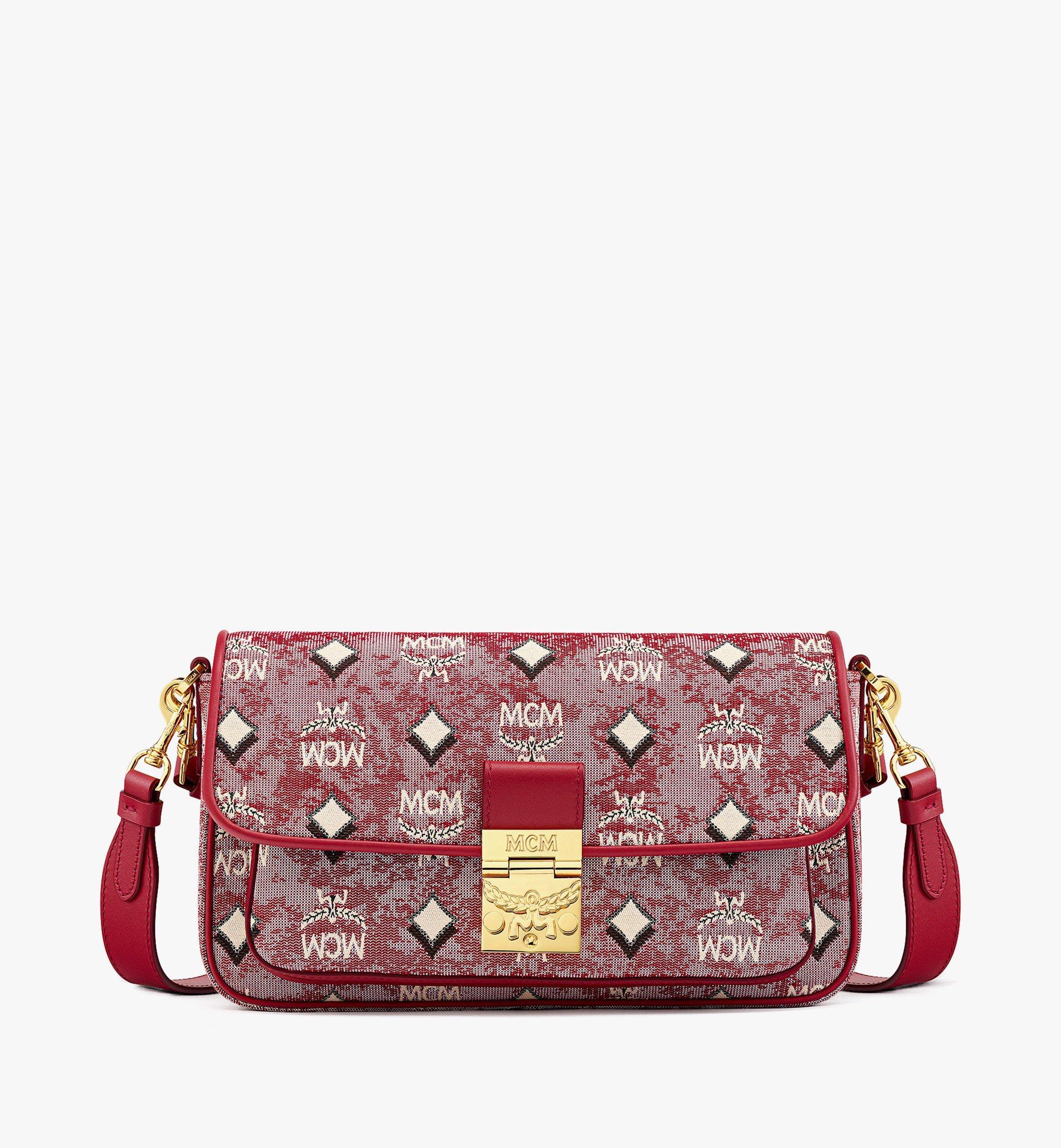 MCM Crossbody Bag in Vintage Jacquard Monogram Red MWRBATQ03RE001 Alternate View 1