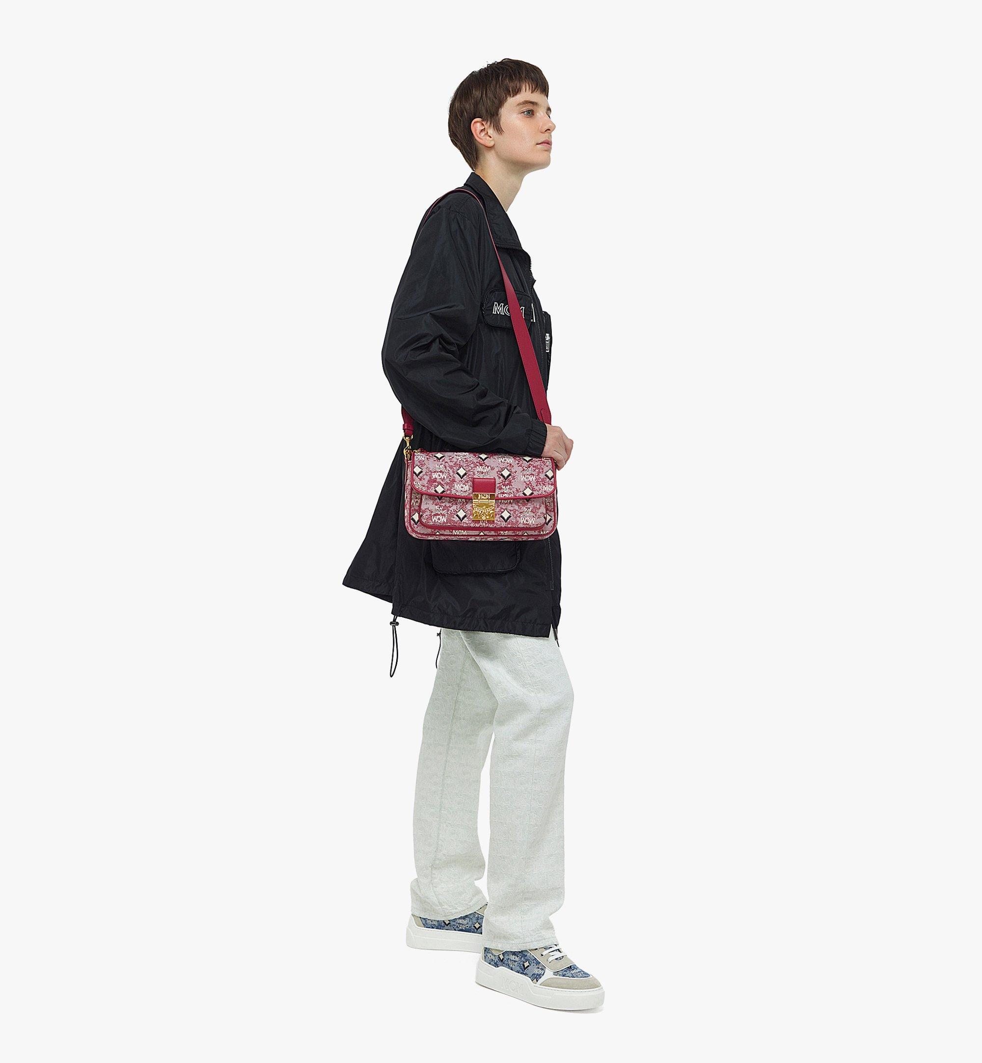 MCM Crossbody Bag in Vintage Jacquard Monogram Red MWRBATQ03RE001 Alternate View 3