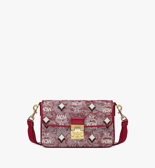 Crossbody-Tasche aus Vintage-Jacquard mit Monogramm