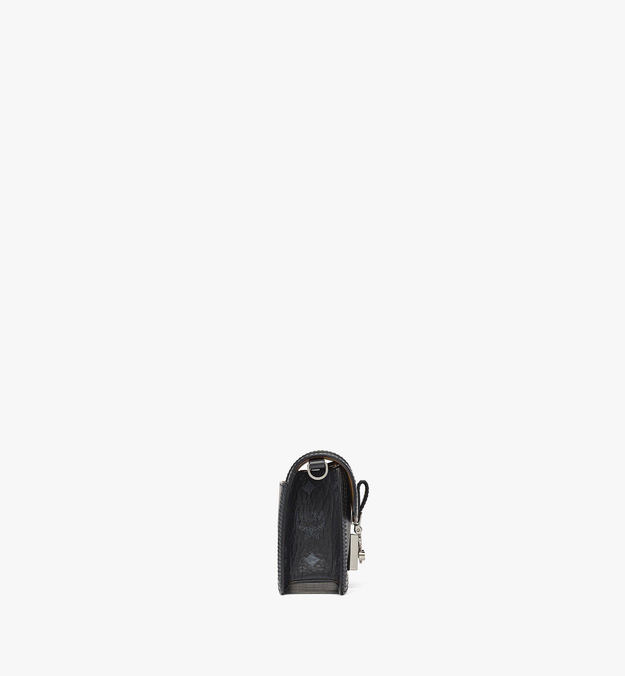 MCM Gretl Crossbody in Visetos Leather Block Black MWRBAWO02BK001 Alternate View 1