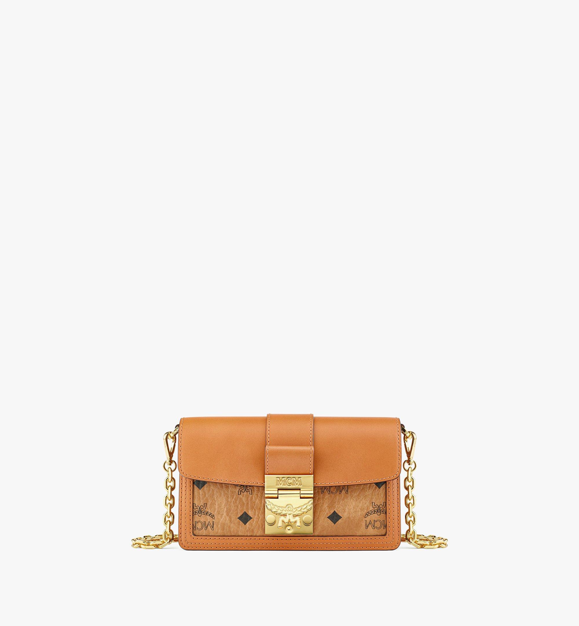 MCM Gretl Crossbody-Tasche in Lederblock-Visetos Cognac MWRBAWO02CO001 Noch mehr sehen 1