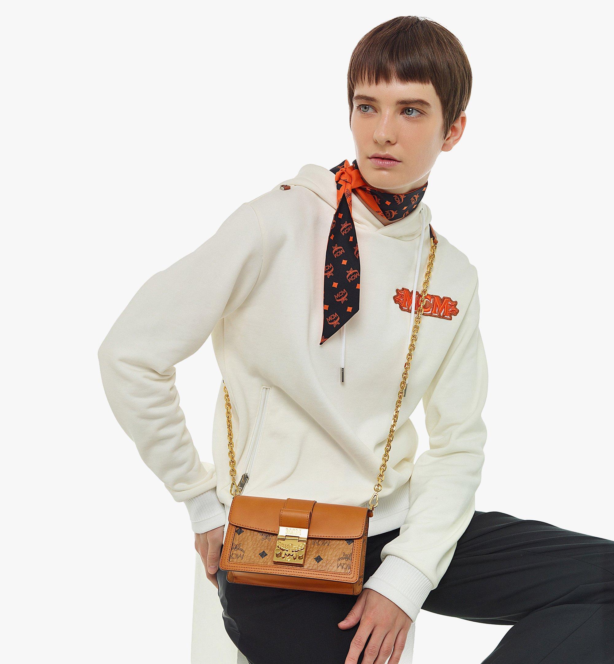 MCM Gretl Crossbody-Tasche in Lederblock-Visetos Cognac MWRBAWO02CO001 Noch mehr sehen 2