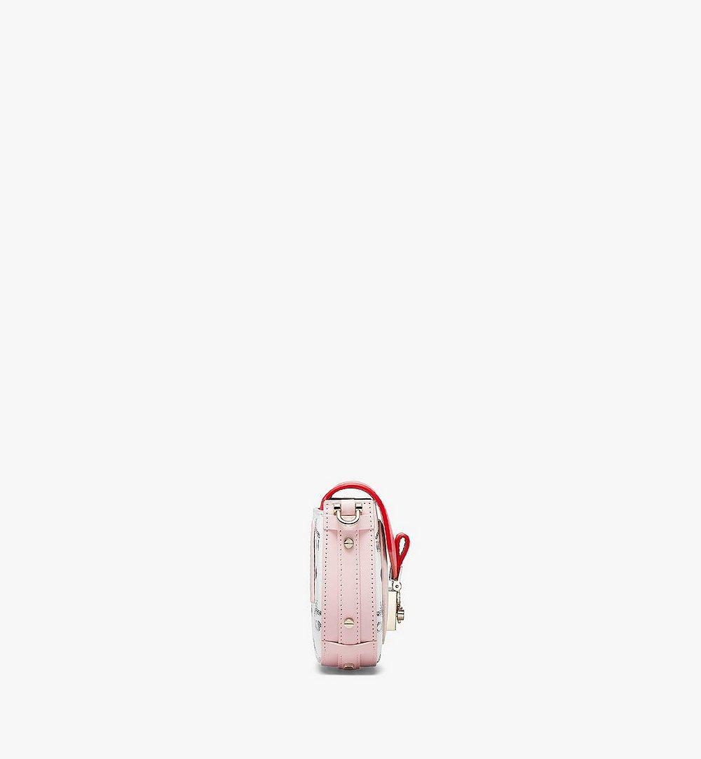 MCM 패트리샤 비세토스 레더 블록 크로스바디 Pink MWRBSPA02R4001 다른 각도 보기 1