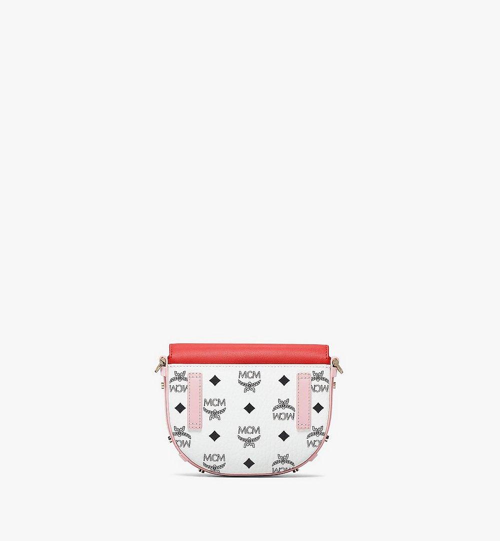 MCM Patricia Crossbody-Tasche in Visetos Leather Block Pink MWRBSPA02R4001 Noch mehr sehen 3