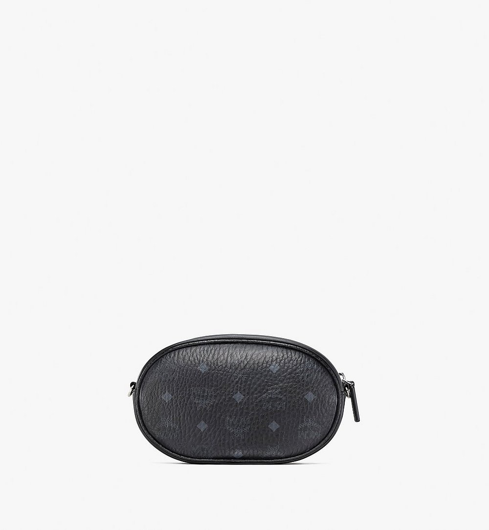 MCM Essential Multifunction Crossbody Pouch in Visetos Original Black MWRBSSE01BW001 Alternate View 3