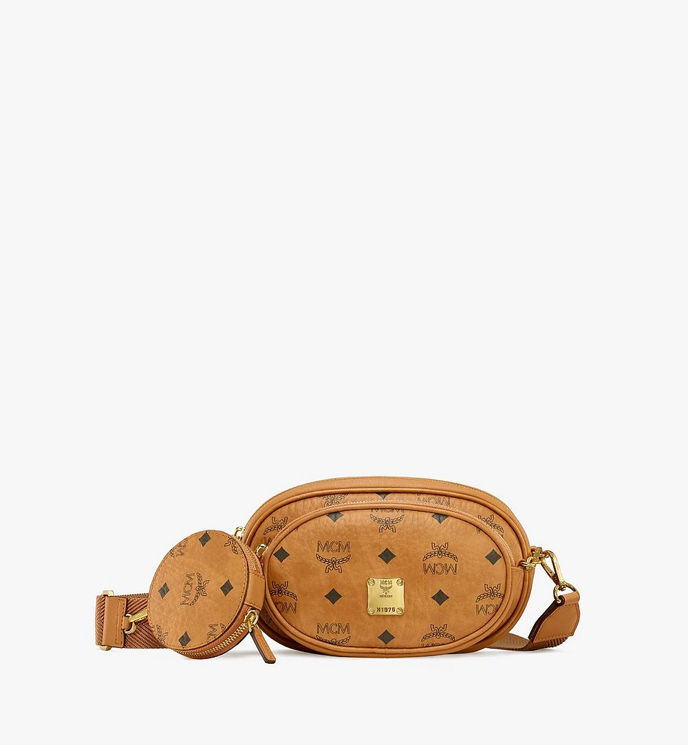 MCM Multifunktionale Essential Crossbody-Pouch in Visetos Original Cognac MWRBSSE01CO001 Noch mehr sehen 1