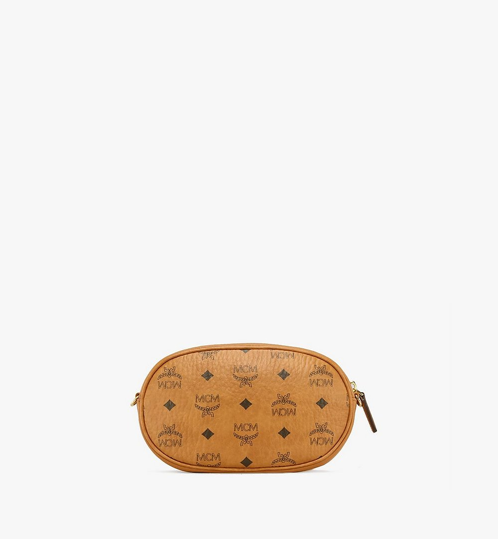 MCM Multifunktionale Essential Crossbody-Pouch in Visetos Original Cognac MWRBSSE01CO001 Noch mehr sehen 3