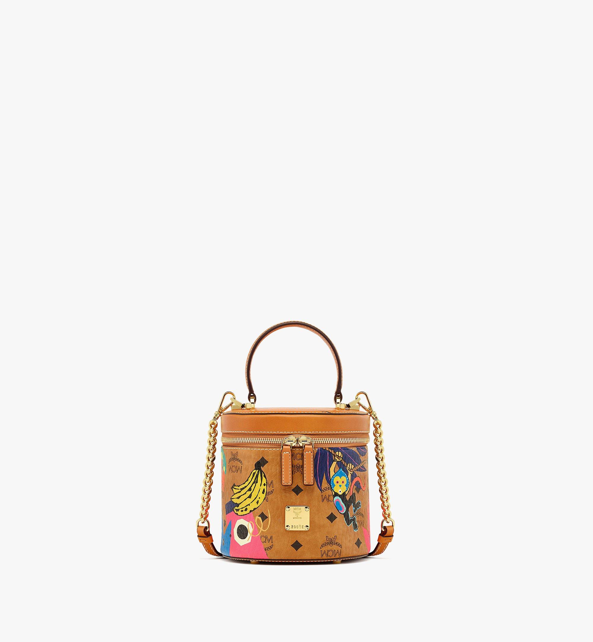 MCM Upcycling Project Cylinder Crossbody in Visetos Cognac MWRBSUP01CO001 Alternate View 1