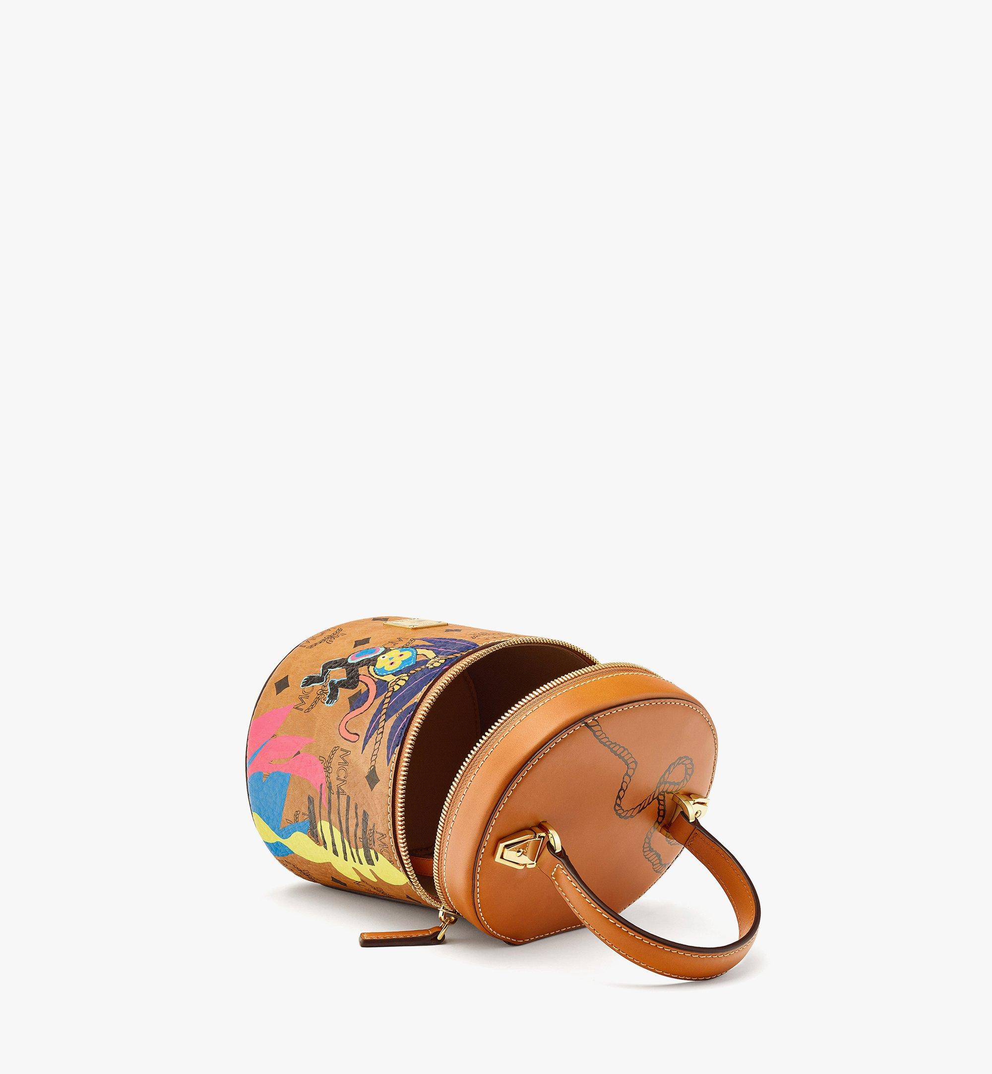 MCM Upcycling Project Cylinder Crossbody in Visetos Cognac MWRBSUP01CO001 Alternate View 2