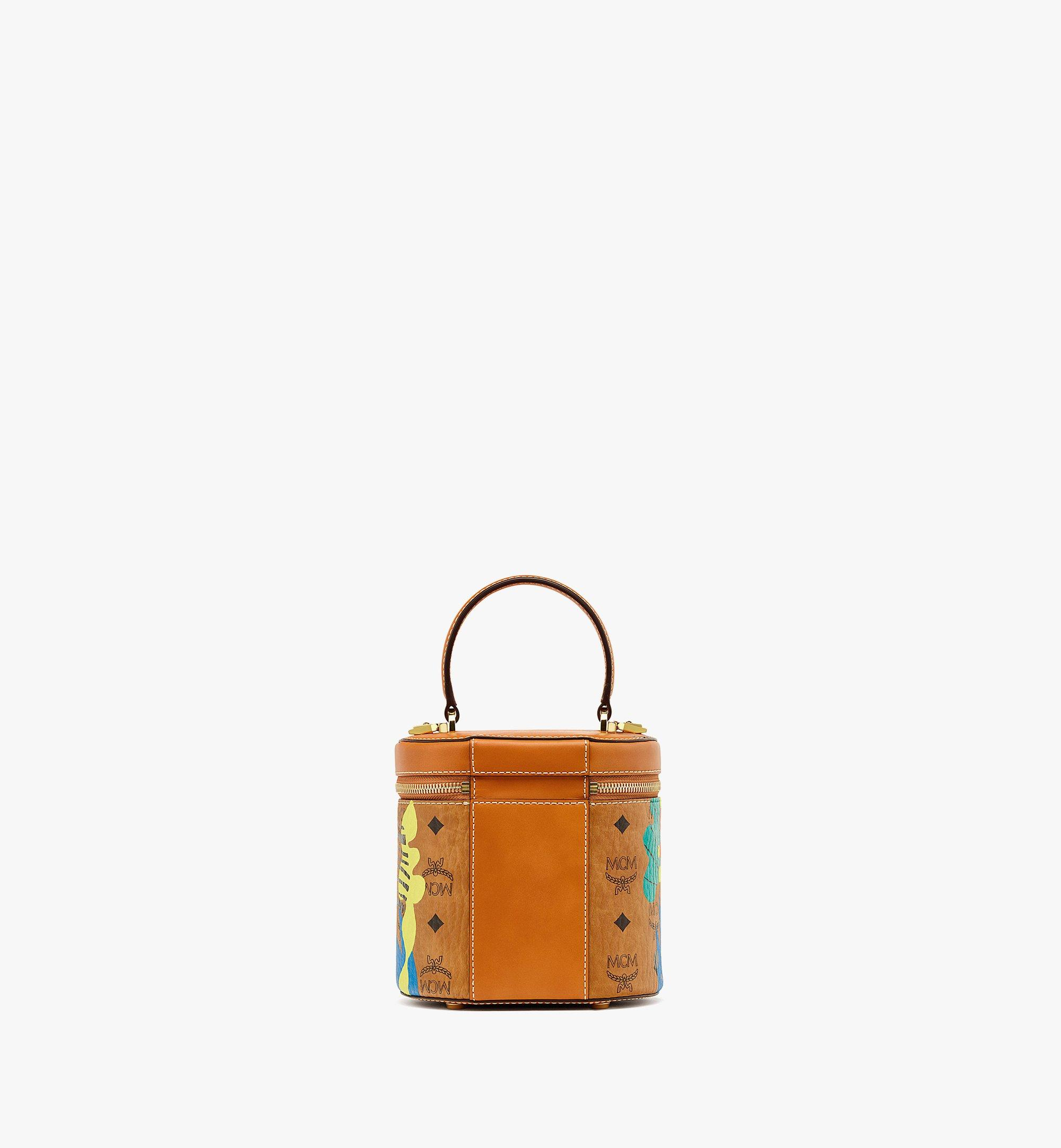 MCM Upcycling Project Cylinder Crossbody in Visetos Cognac MWRBSUP01CO001 Alternate View 3