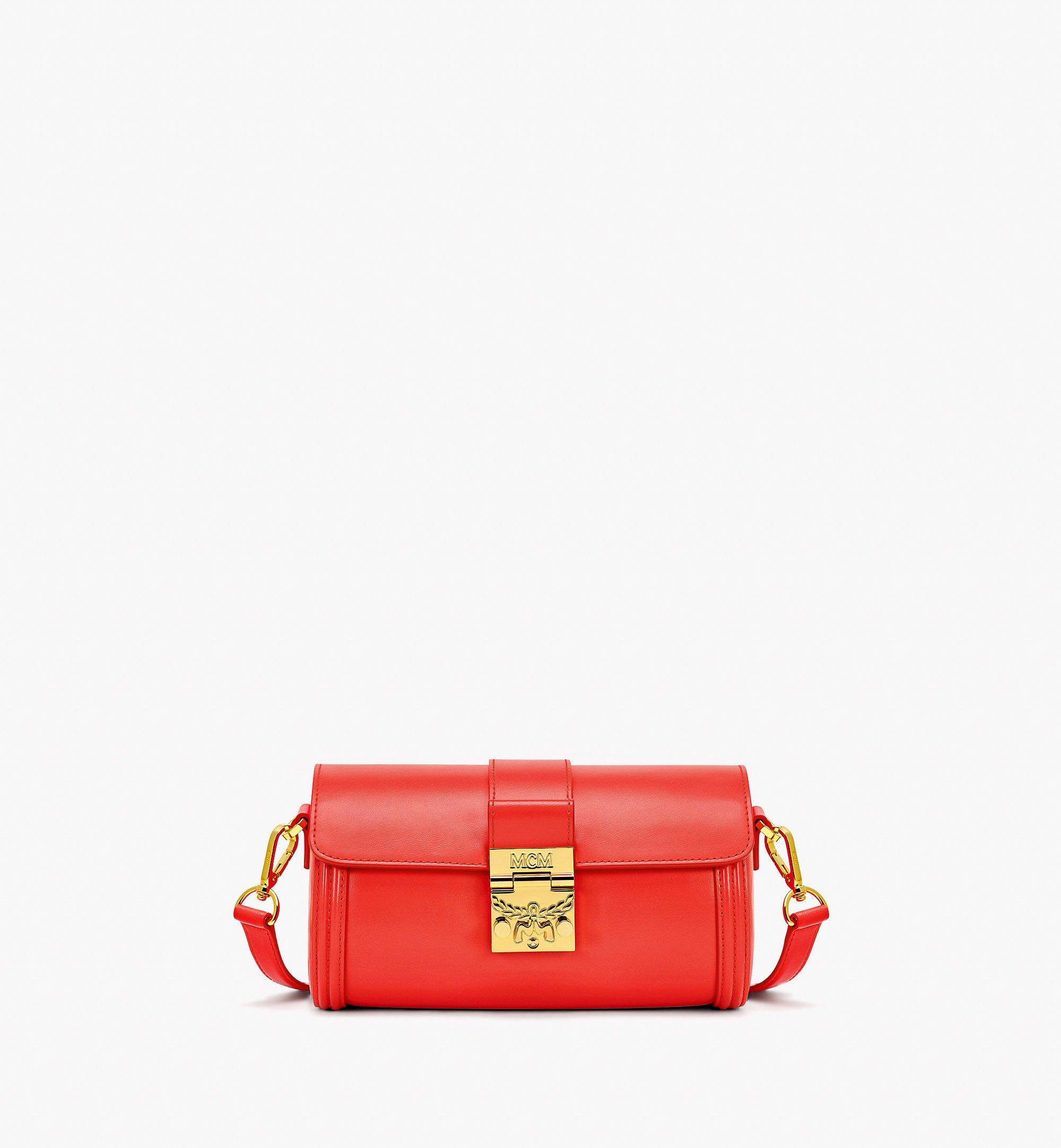 MCM Tracy Crossbody in Embossed Spanish Leather Red MWRBSXT02R8001 Alternate View 1
