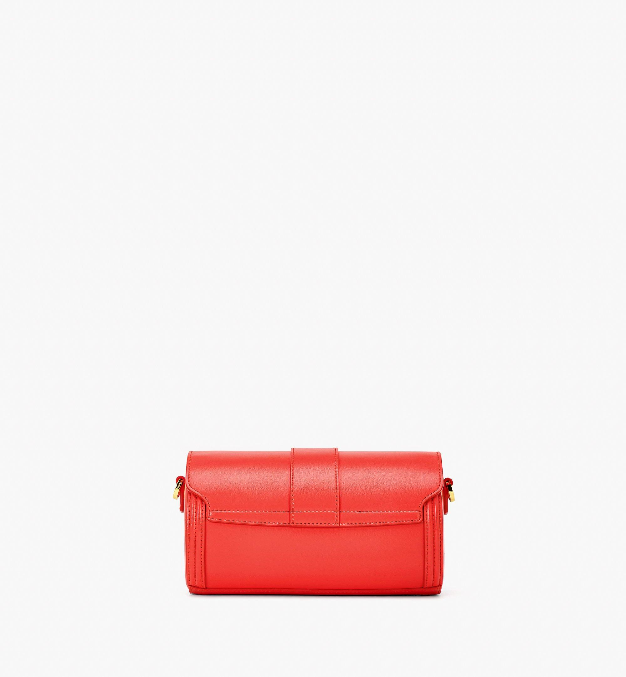 MCM Tracy Crossbody in Embossed Spanish Leather Red MWRBSXT02R8001 Alternate View 3