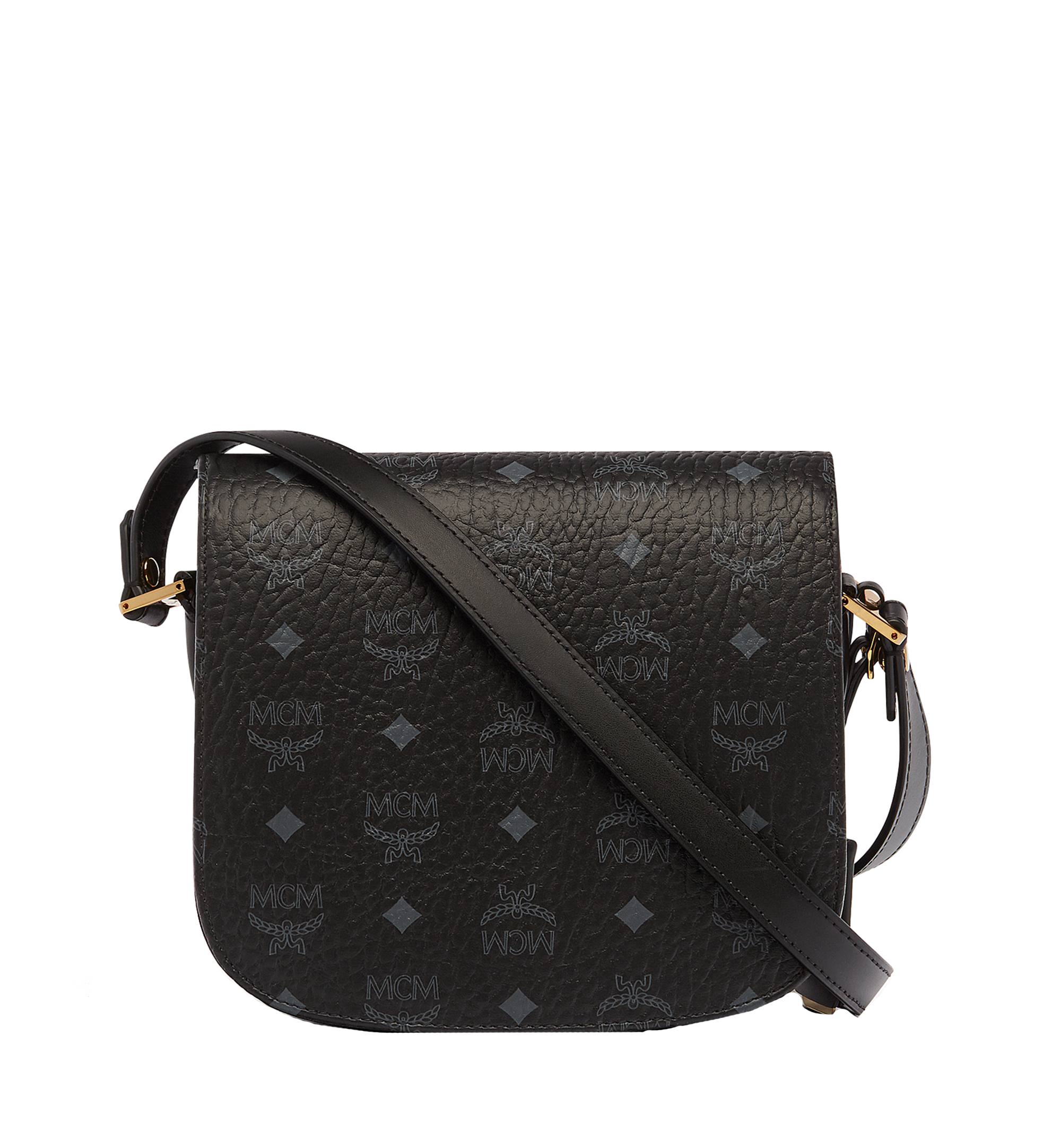 Small Patricia Shoulder in Visetos Black | MCM® DE