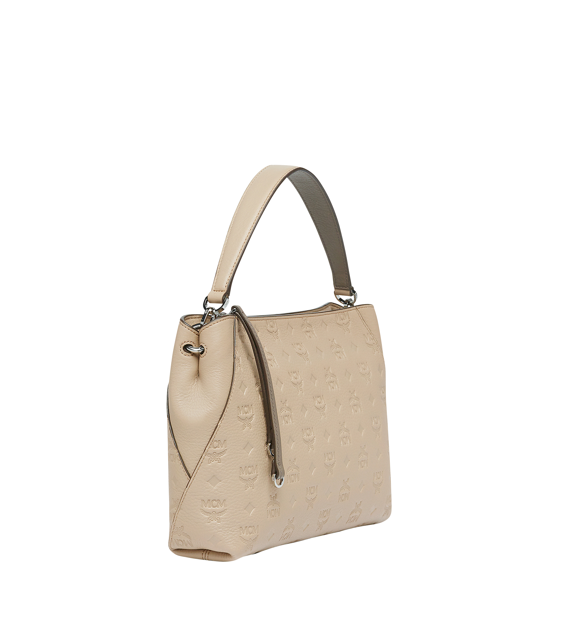 Medium Klara Shoulder in Monogram Leather New Beige | MCM® DE