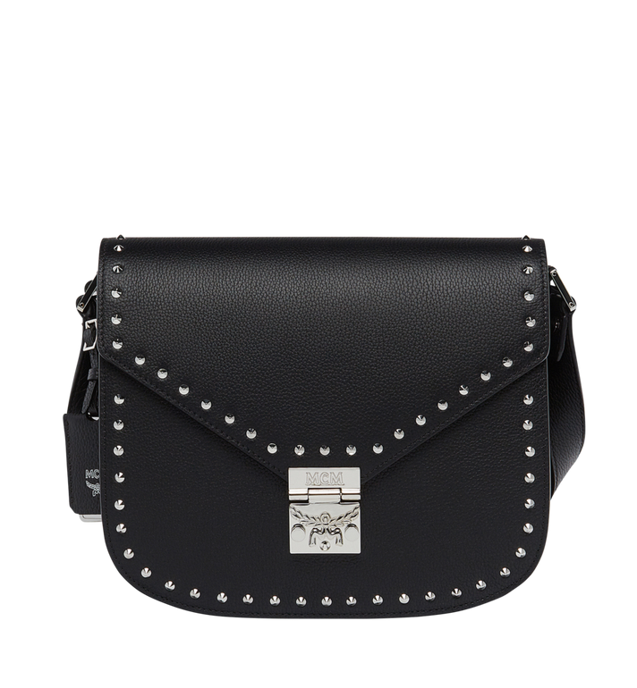 MCM Patricia Studded Outline Shoulder in Grained Leather MWS7APA16BK001 AlternateView