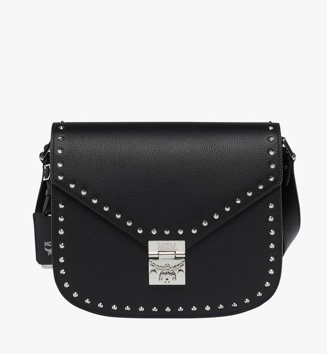 Patricia Studded Outline Shoulder in Grained Leather